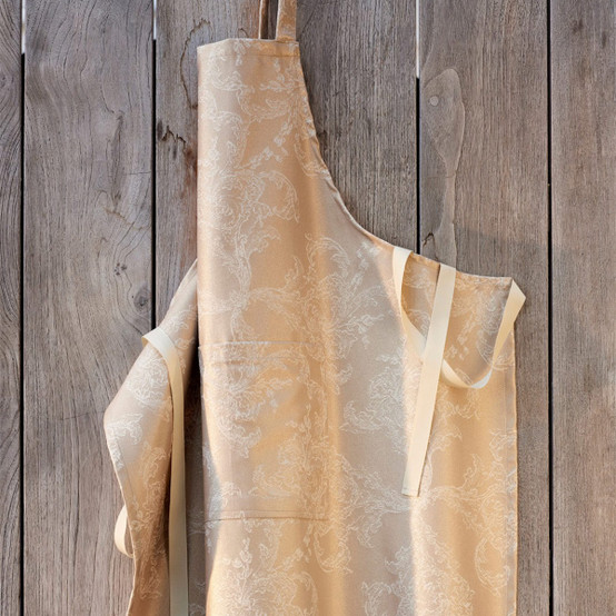 Mille Eternel Coated Apron in Poudre D'or