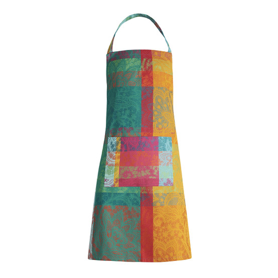 Mille Dentelles Coated Apron in Floralies