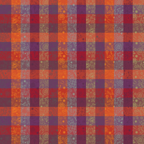 Mille Alcees Feu Coated Fabric (Price/Inch)