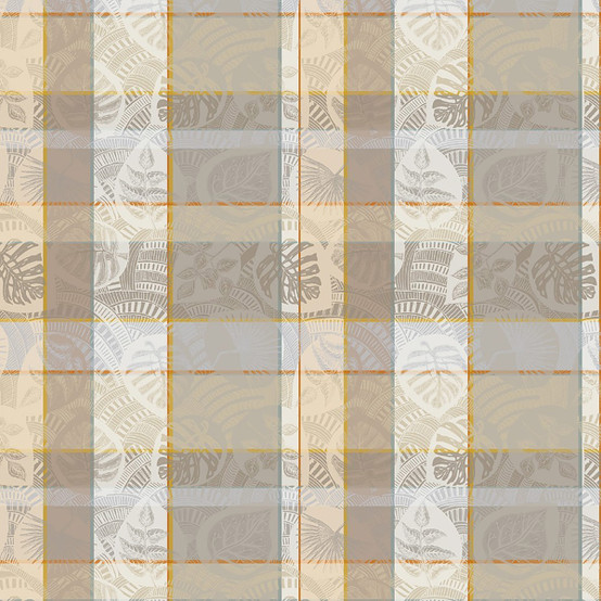 Mille Tropiques Coated Fabric in Coco (Price/Inch)