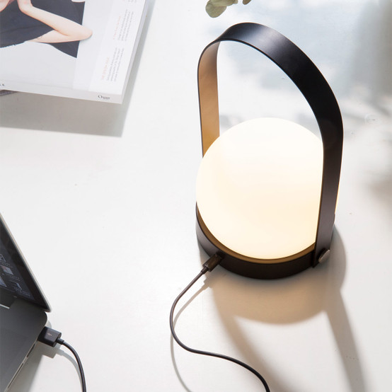 Carrie LED Lamp in Burned Red