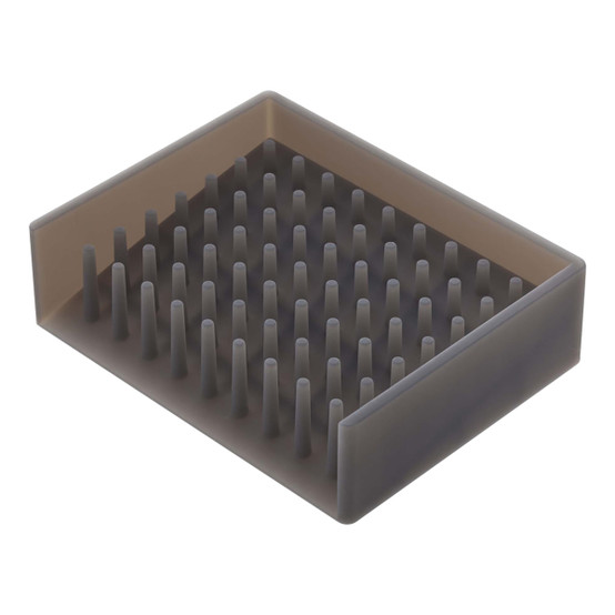 Float Self Draining Soap Tray in Grey