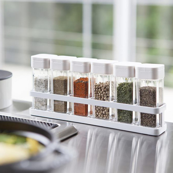 Tower Spice Bottles with Rack