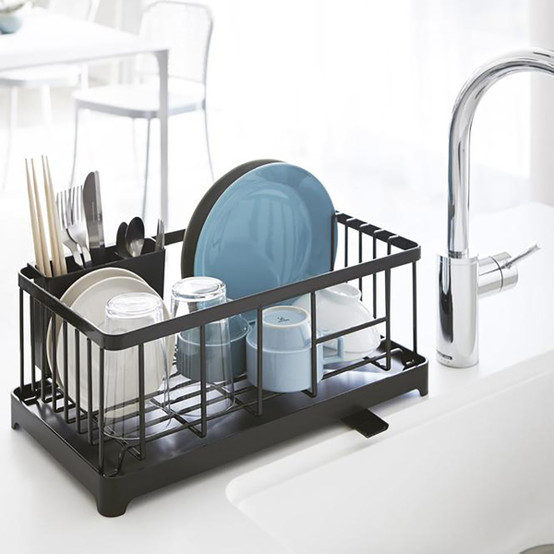 Tower Wire Dish Drainer Rack in Black