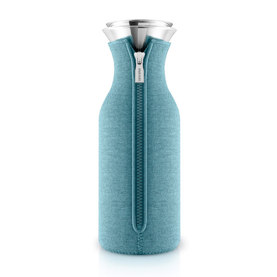 Fridge Carafe with cover in Woven Arctic Blue