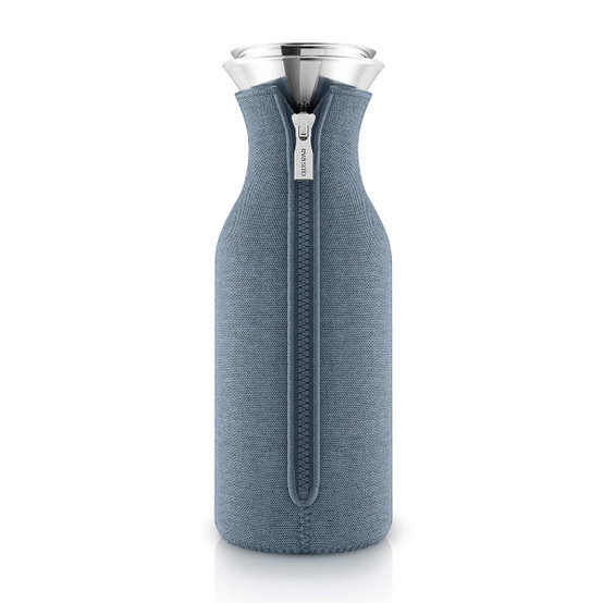 Fridge Carafe with cover in Woven Steel Blue