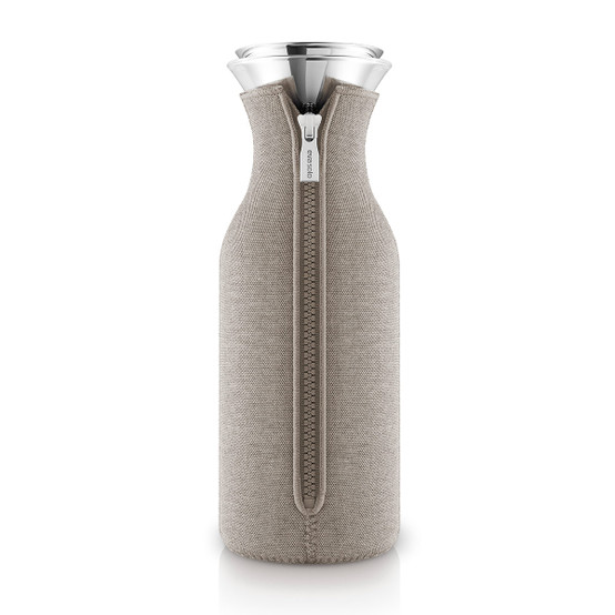 Fridge Carafe with cover in Woven Warm Grey