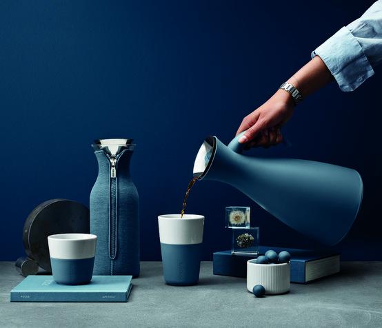 2Pc Set Café Latte Tumbler In Steel Blue