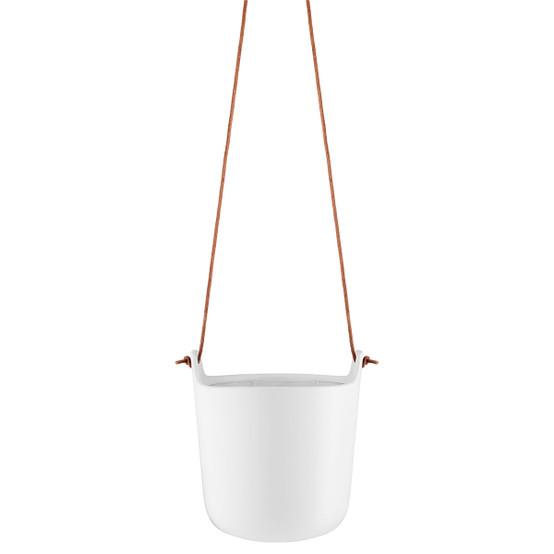 Hanging Self-Watering Pot in Chalk White