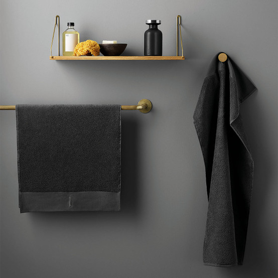 Hand Towel in Dark Grey