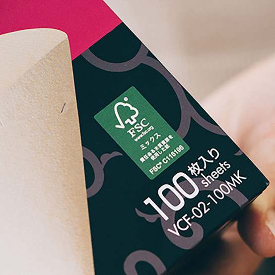 Mizarashi Paper Filter for 02 Dripper, 100 Sheets