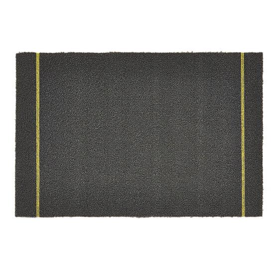 Simple Stripe Shag Mat in Grey Citron