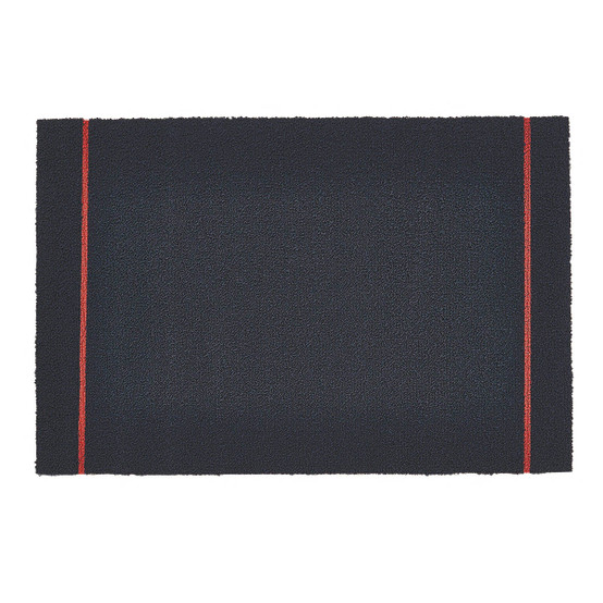 Simple Stripe Shag Mat in Navy Coral