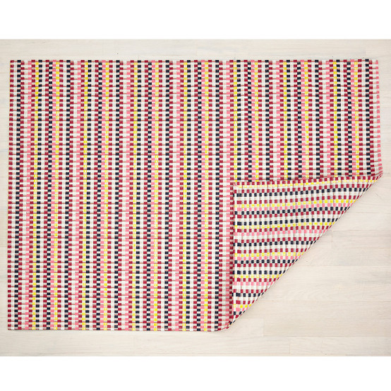 Heddle Floor Mat in Pansy