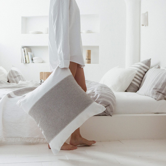 Charlotte Pillow Cover in Stripe