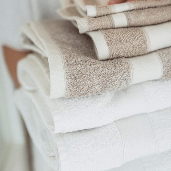 Simi Bath Terry Towel in Optic White
