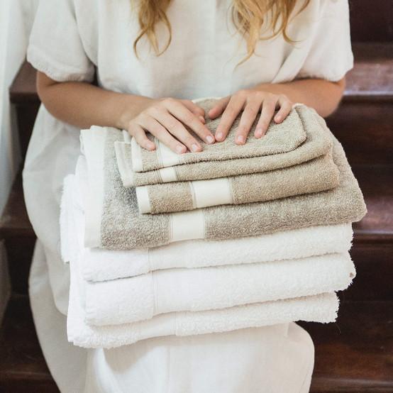 Simi Wash Cloth in Optic White