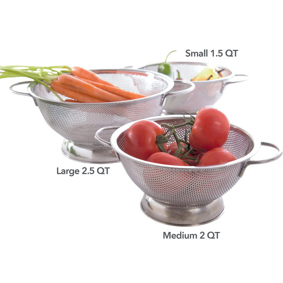 Stainless Steel Perforated Colander, Small