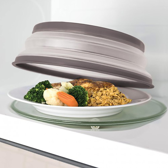 Microwave Collapsible Food Cover – Charcoal