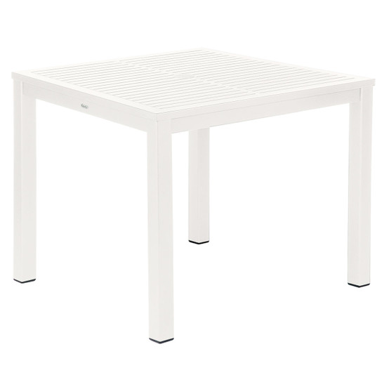 Aura Aluminum Top Square Dining Table 35 inches
