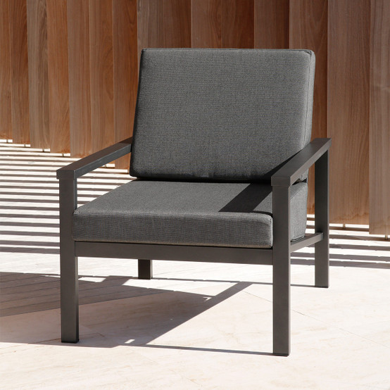 Equinox Painted Deep Seating Armchair in Graphite