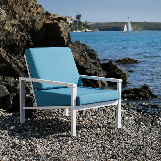 Equinox Painted Deep Seating Armchair in White