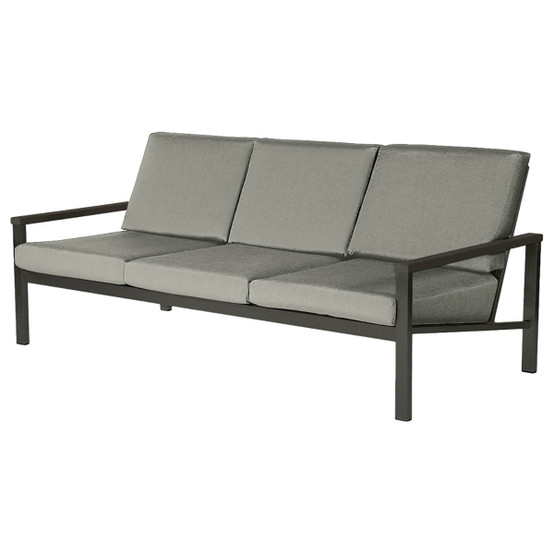 Equinox Painted Deep Seating Three-Seater in Graphite