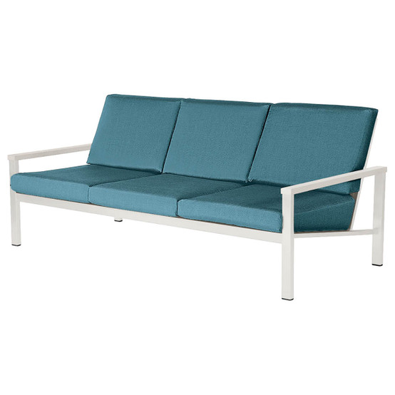 Equinox Painted Deep Seating Three-Seater in White