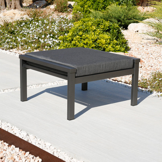 Equinox Painted Deep Seating Ottoman in Graphite