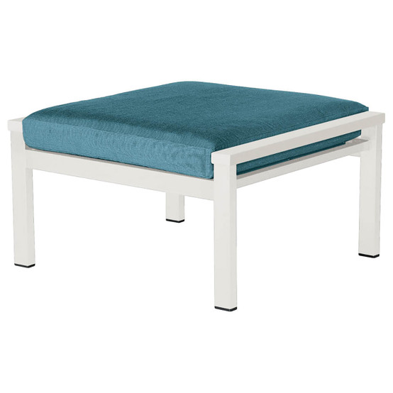 Equinox Painted Deep Seating Ottoman in White