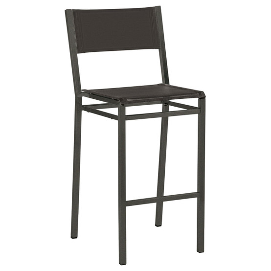 Equinox Painted High Side Chair in Graphite