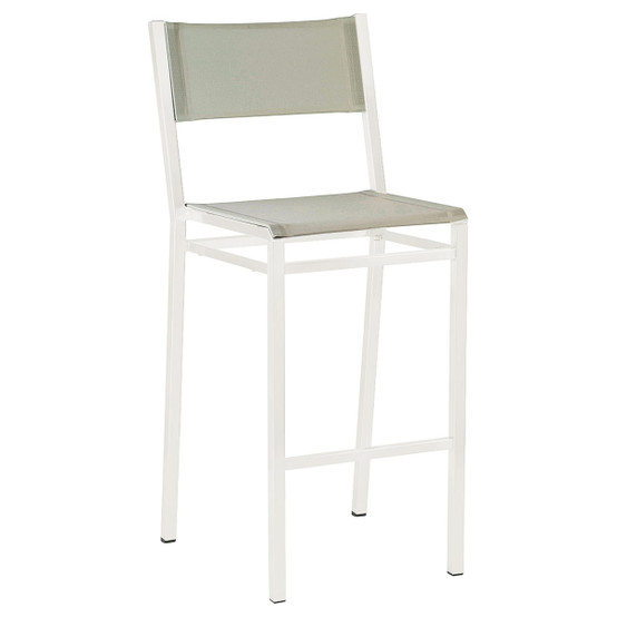 Equinox Painted High Side Chair in White