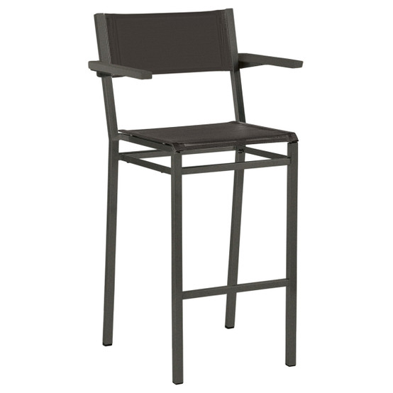 Equinox Painted High Arm Chair in Graphite