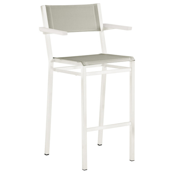 Equinox Painted High Arm Chair in White