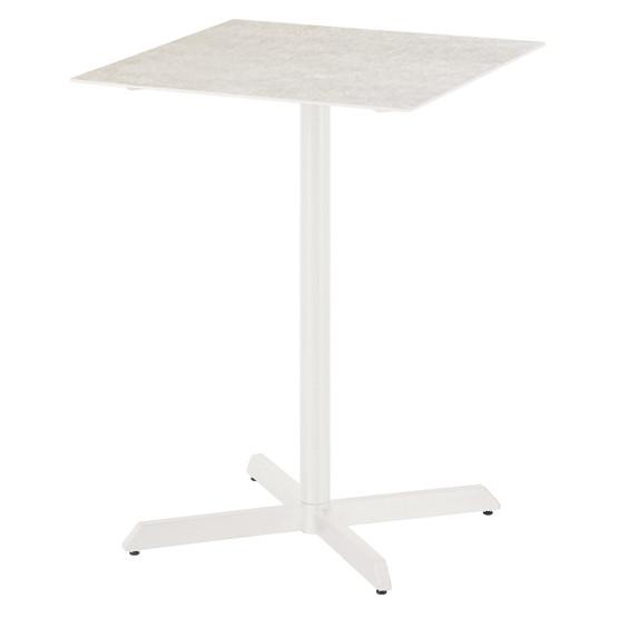 Equinox Ceramic Top Pub High Dining Table in White