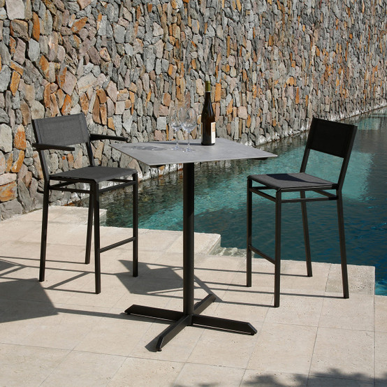Equinox Painted Counter-Height Side Chair in Graphite