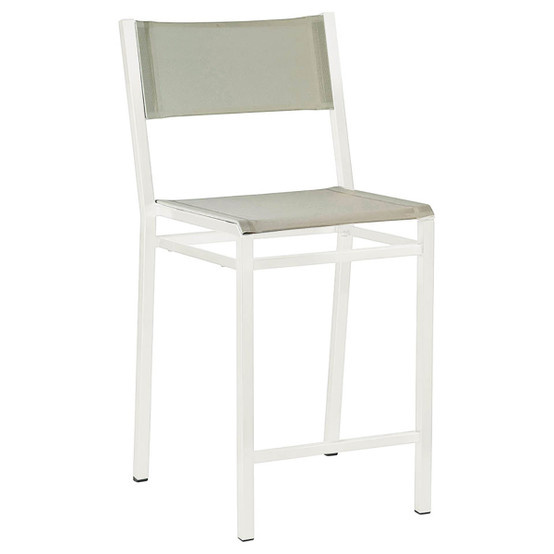 Equinox Painted Counter-Height Side Chair in White