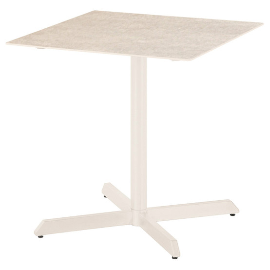 Equinox Square Painted 27 inch Dining Table in White