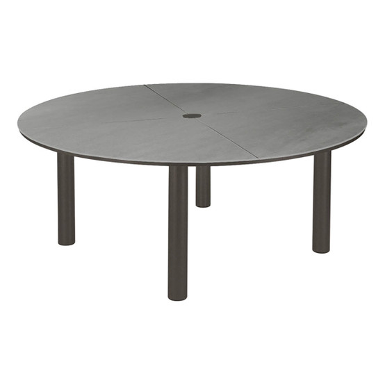 Equinox Circular Painted Dining Table in Graphite