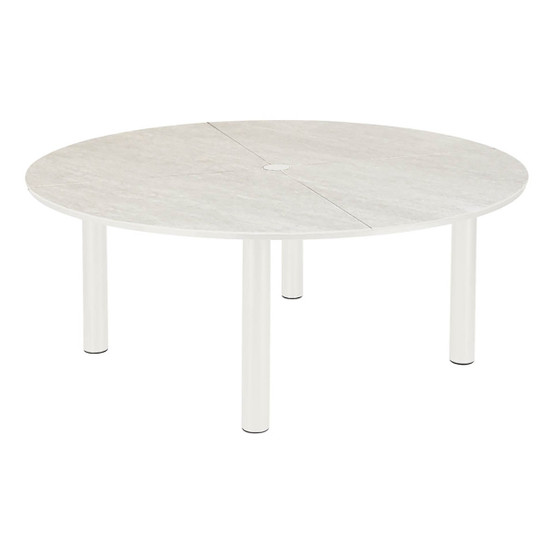 Equinox Circular Painted Dining Table in White