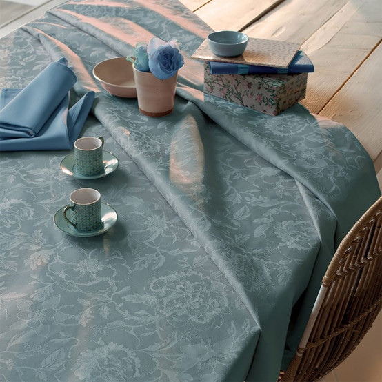 Mille Charmes Tablecloth in Bleu Louis XVI