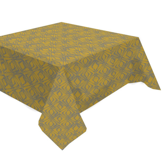 Mille Ikats Tablecloth in Curry