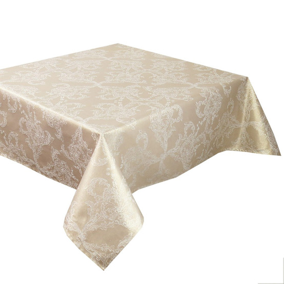 Mille Eternel Coated Tablecloth in Doré