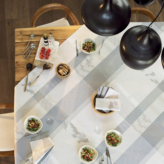 Mille Matieres Vapeur Coated Tablecloth