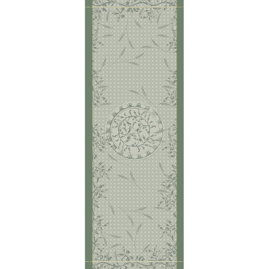 Persephone Green Sweet Table Runner in Olive