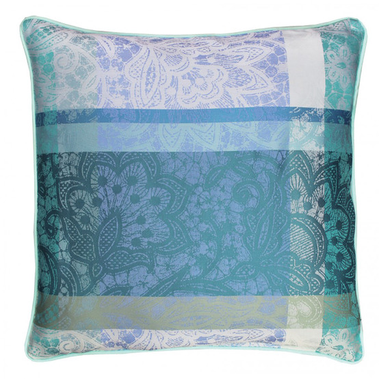 Mille Dentelles 16 x 16 Cushion Cover in Turquoise