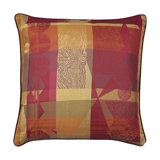 Mille Tingari 16 x 16 Cushion Cover in Terre Rouge
