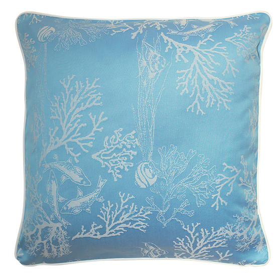 Mille Coraux 16 x 16 Cushion Cover in Ocean