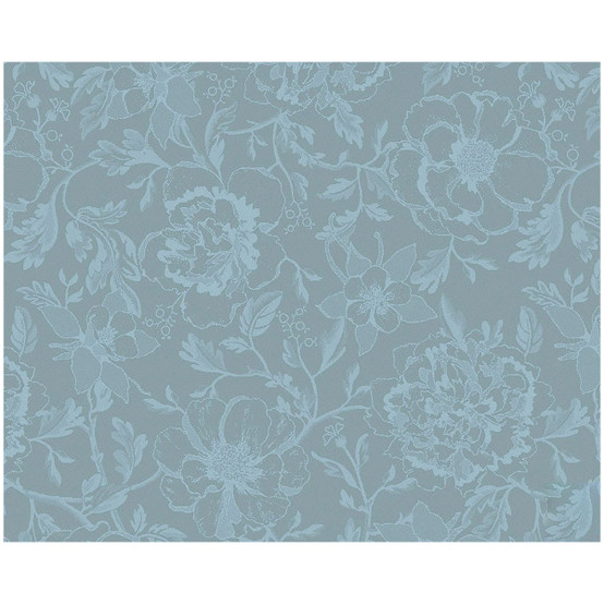 Mille Charmes Coated Placemat in Bleu Louis XVI