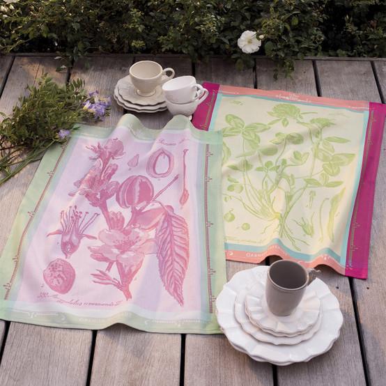 Fleurs de Trefle Chlorophylle Kitchen Towel